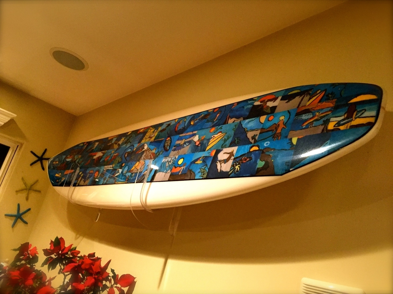 Clear Acrylic Surfboard Wall Rack – Storeyourboard In Most Current Surfboard Wall Art (View 3 of 20)