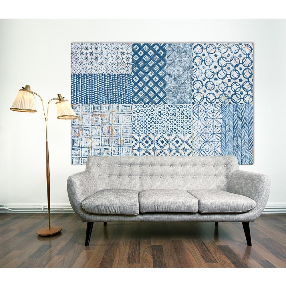 "Clicart 48 In. X 72 In. ""maki Tile Xcii""kathrine Lovell Printed Regarding Newest Tile Canvas Wall Art (Gallery 12 of 20)"