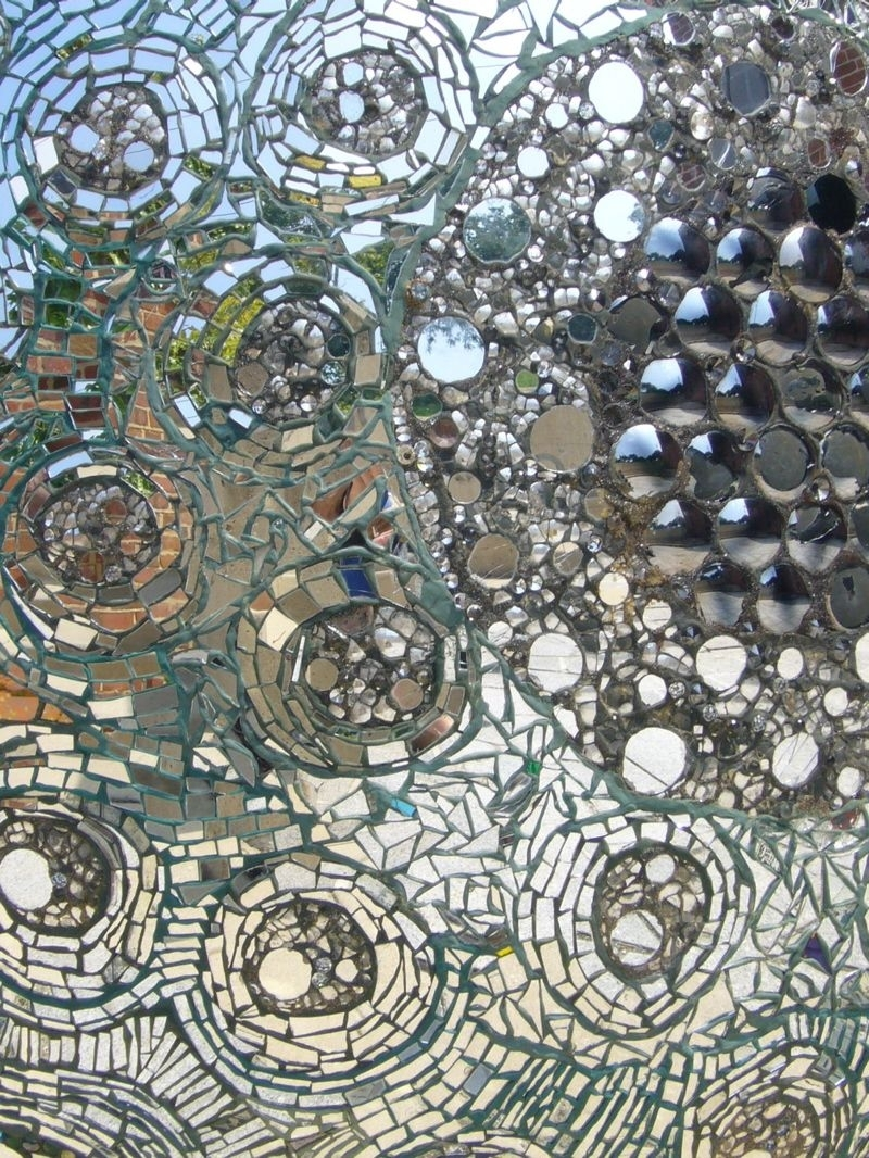 Close Up Of A Mosaic Glass Wall (View 6 of 20)