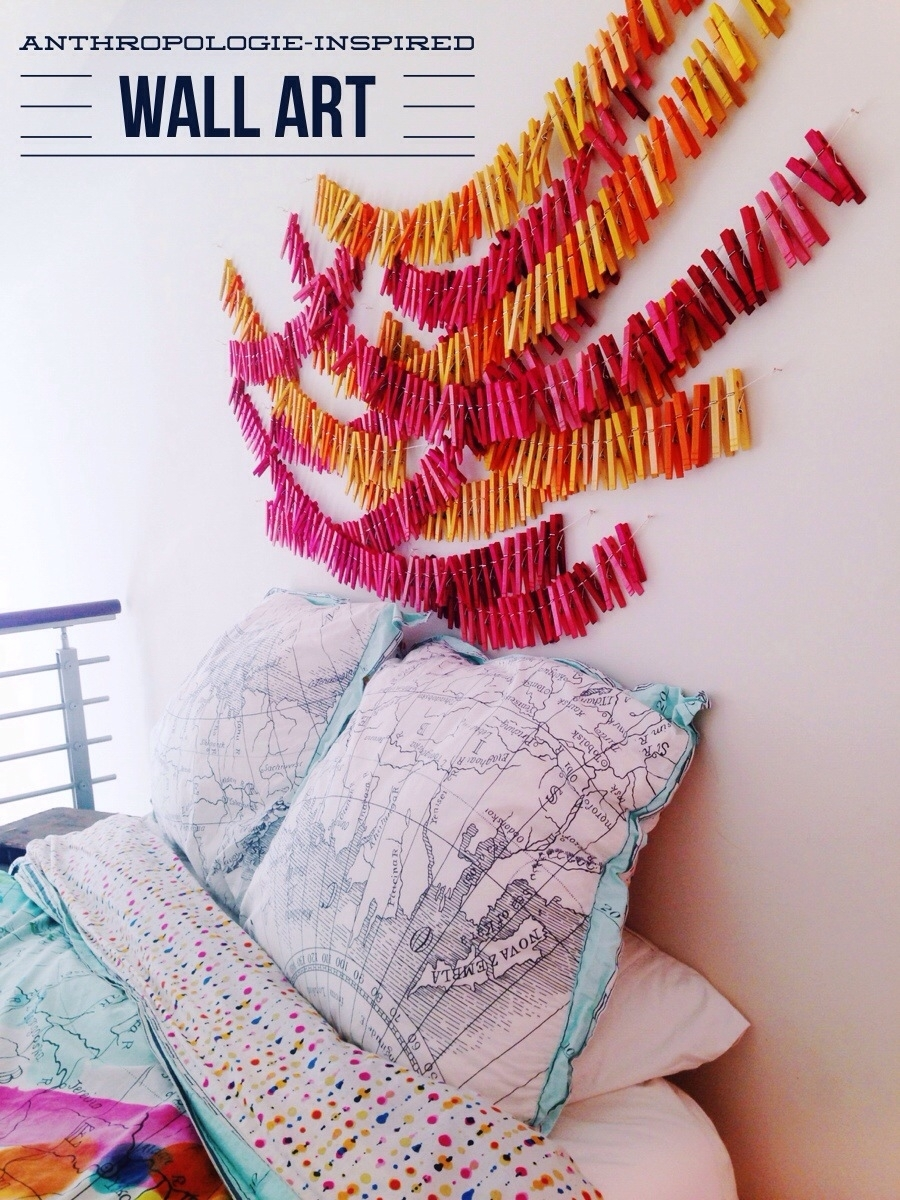 Clothespin Wall Art • Your Biggest Fan, Grace Throughout Latest Anthropologie Wall Art (View 16 of 20)