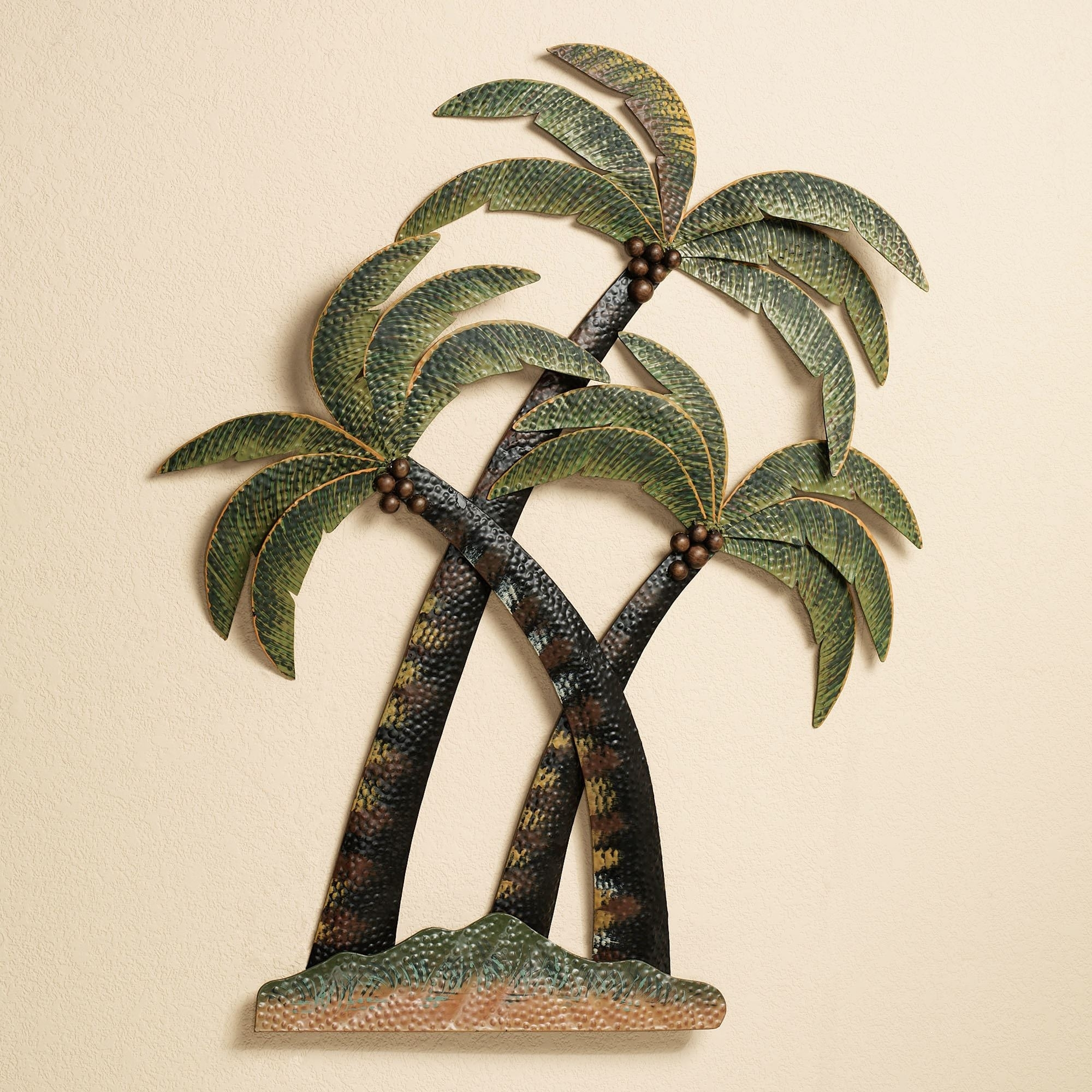 Coco Palm Tree Metal Wall Sculpture With Recent Palm Tree Wall Art (View 8 of 20)
