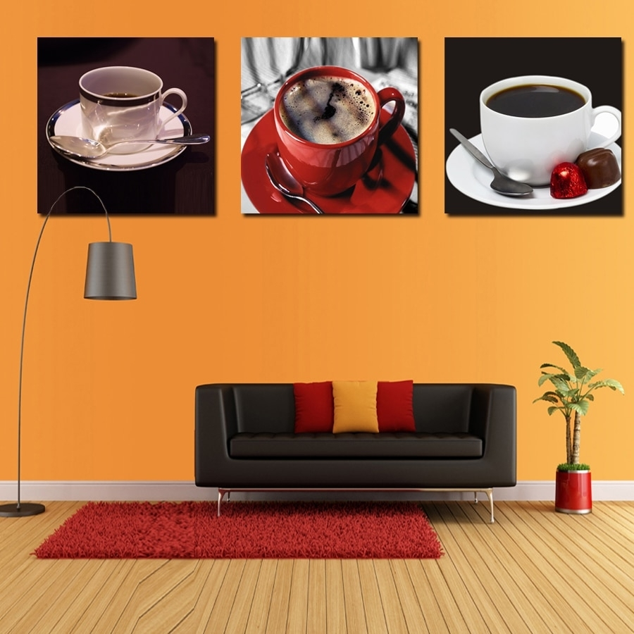 Coffee New Arrival New Kitchen Wall Art Painting Home Decor Canvas Intended For 2017 Kitchen Canvas Wall Art Decors (Gallery 2 of 20)