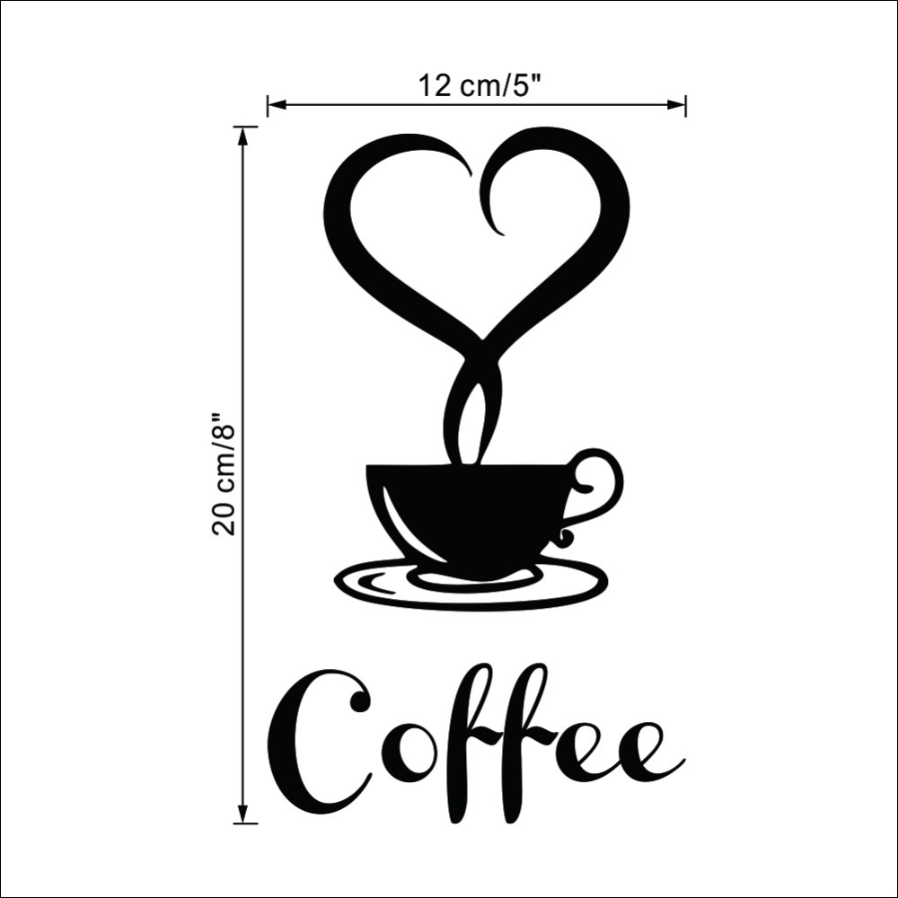 Coffee Shop Sign Modern Wall Decor Decals Home Decorations 361 Pertaining To Most Up To Date Coffee Wall Art (View 4 of 15)
