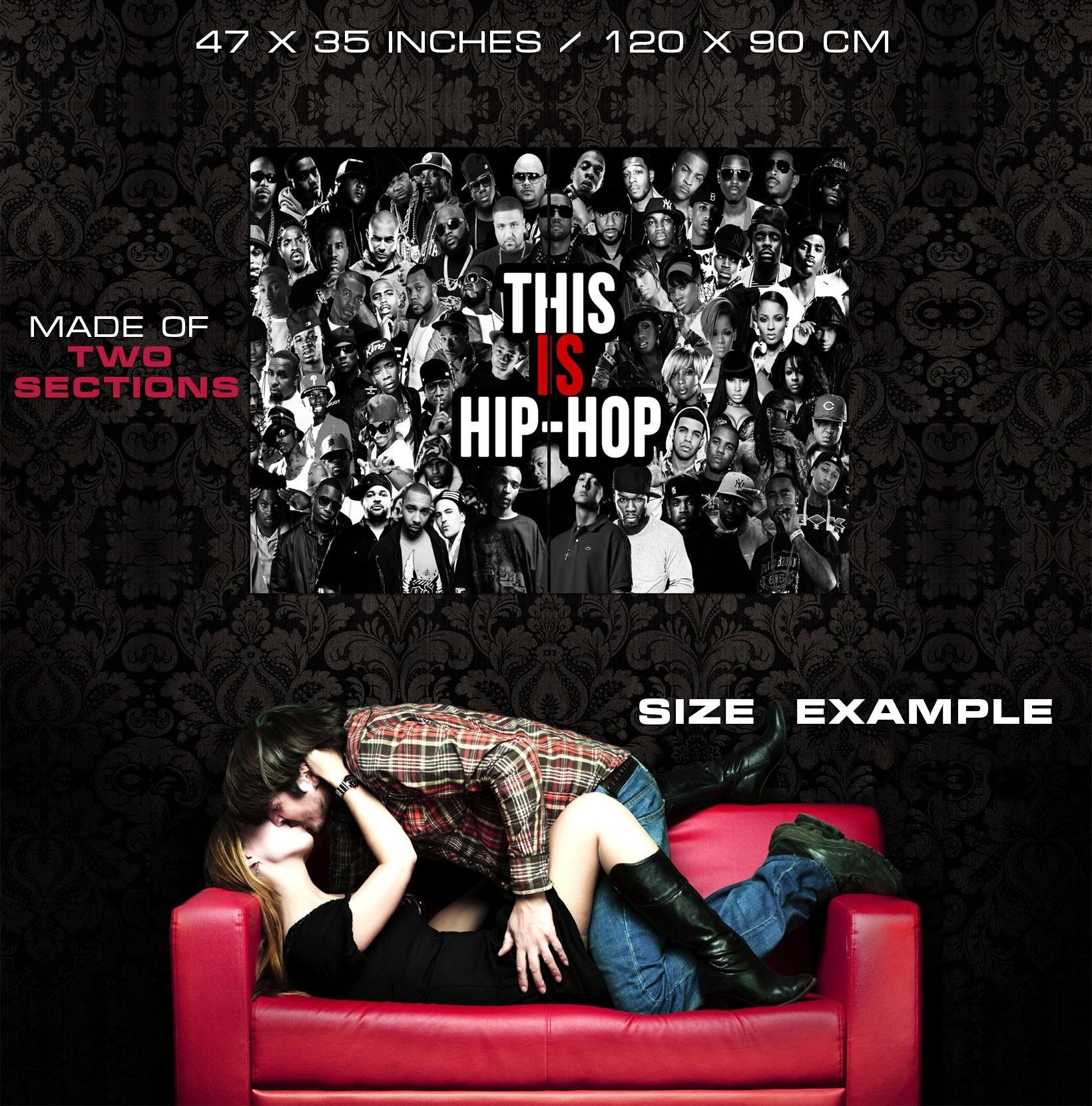 Collage Hip Hop Rap Music Art Wall Print Poster | Ebay Regarding Most Recent Hip Hop Wall Art (View 3 of 15)