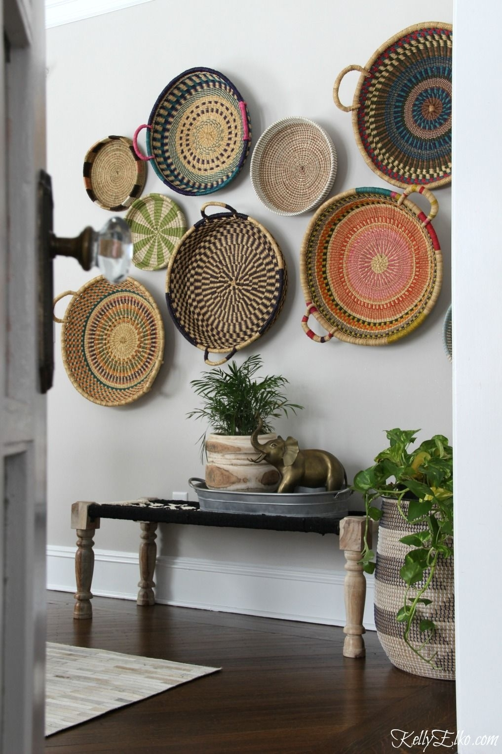 Colorful Basket Gallery Wall | Wall Art Decor | Pinterest | Gallery For Most Popular Woven Basket Wall Art (View 9 of 20)