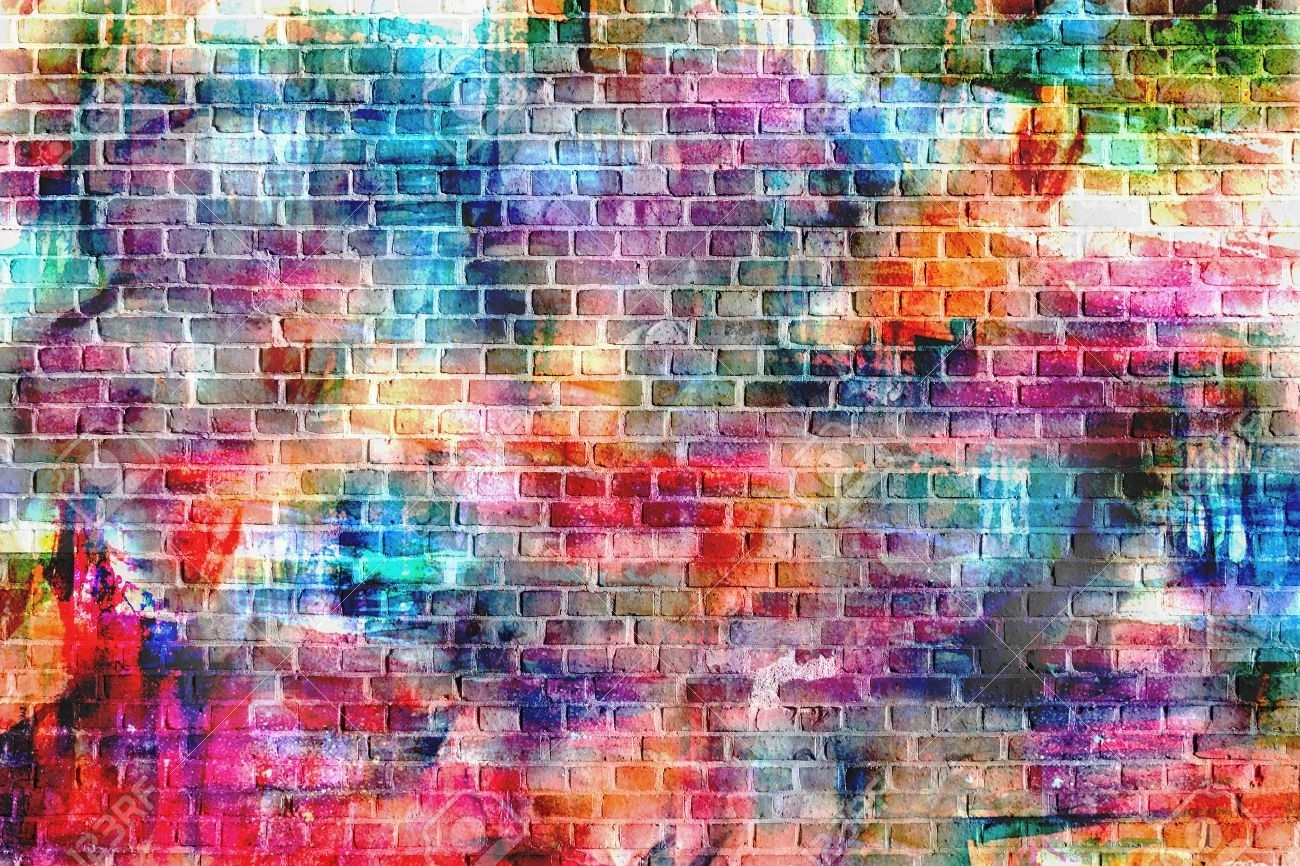 Colorful Wall Painting Art, Inspirational Background Image (View 17 of 20)