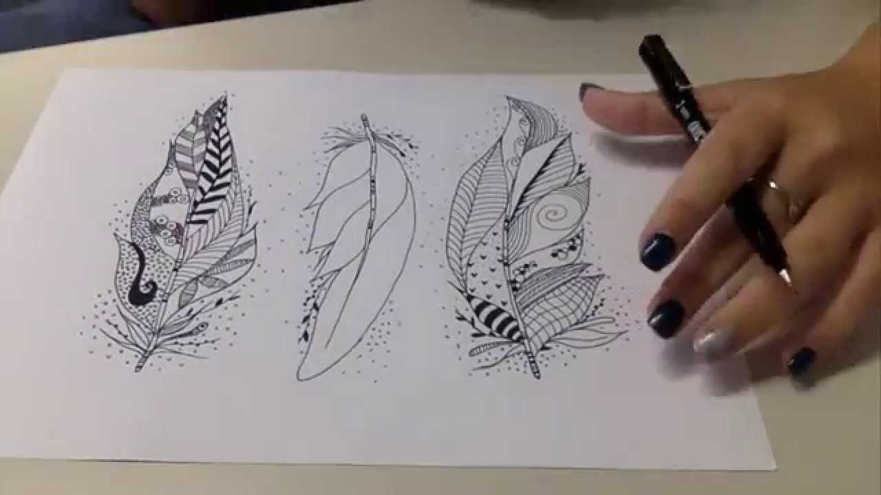 Coloured Feathers Wall Art – Youtube Inside 2017 Feather Wall Art (View 6 of 20)