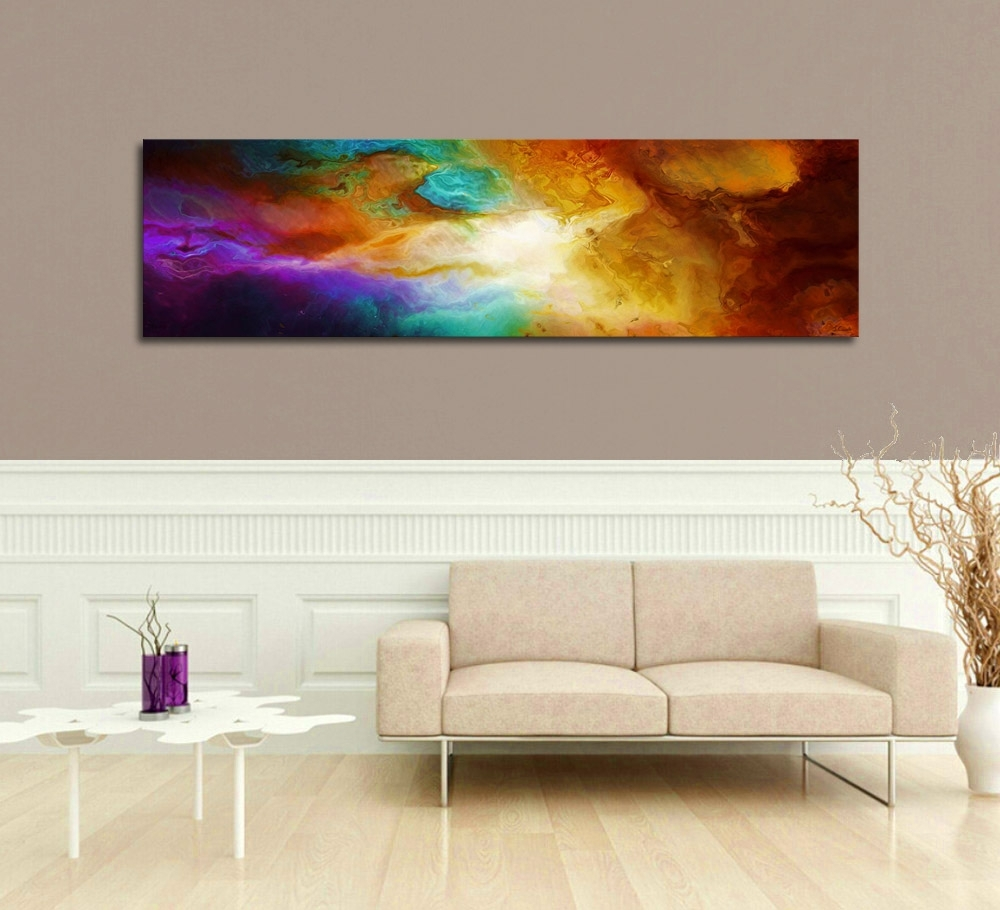 "Contemporary Abstract Art For Sale – ""becoming"" – With Regard To Best And Newest Long Canvas Wall Art (View 10 of 20)"