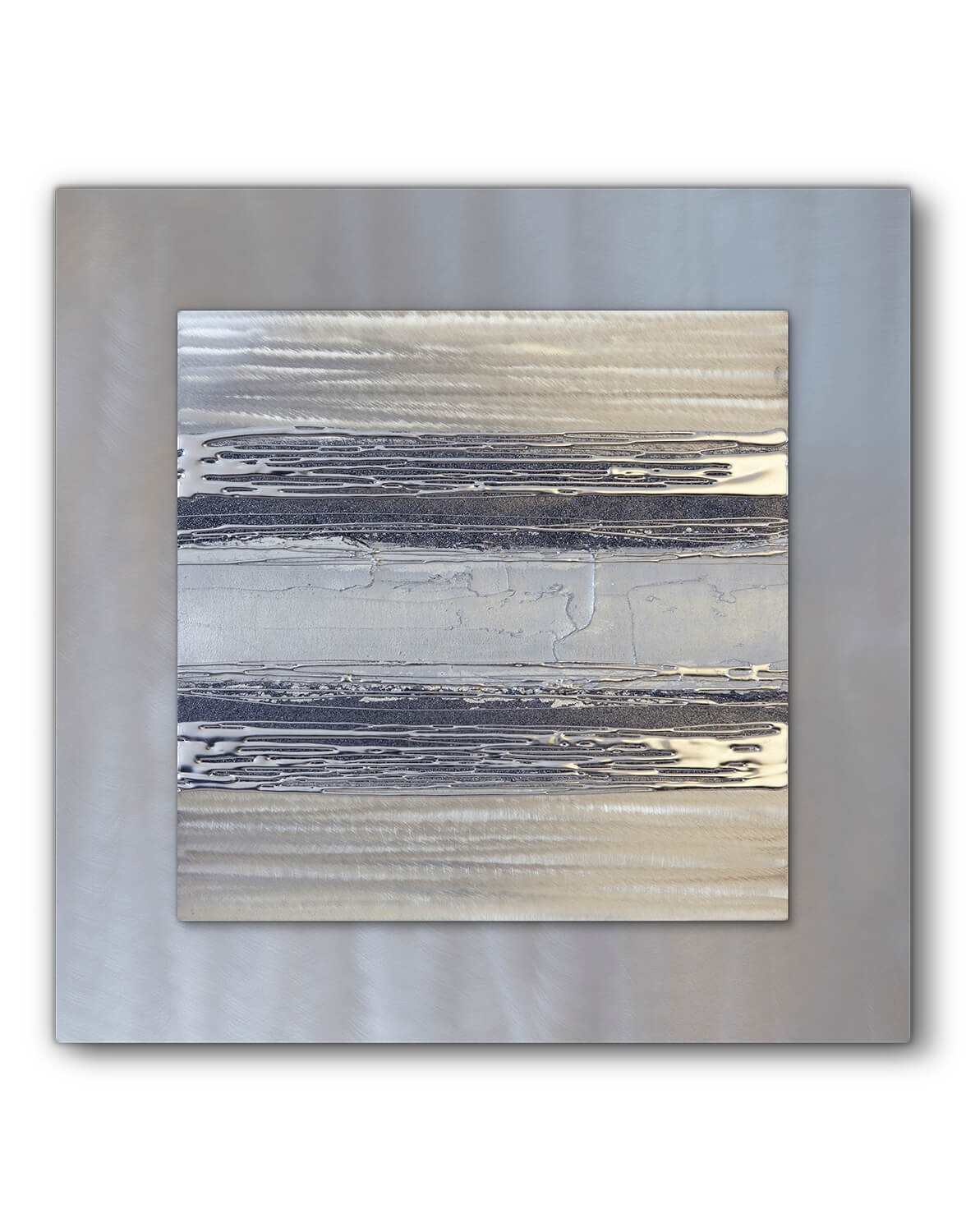Contemporary Square Silver Grey Ii – Silver Wall Art, Contemporary In Most Up To Date Silver Wall Art (Gallery 4 of 20)