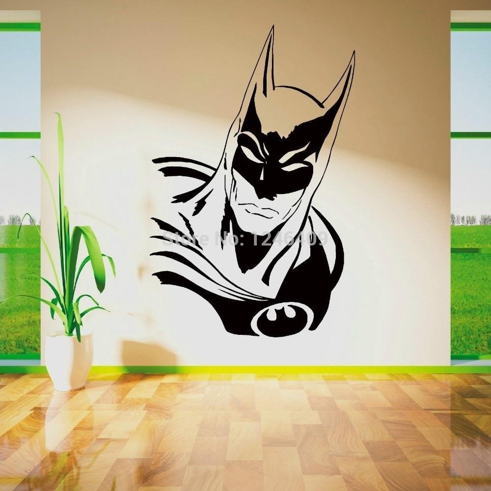 Cool Batman Superhero Vinyl Removable Wall Art Sticker Poster Within 2018 Batman Wall Art (View 16 of 20)