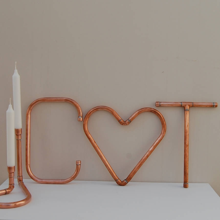 Copper Decorative Letters And Symbols Wall Artcopper & Hall Regarding 2017 Copper Wall Art (View 2 of 15)