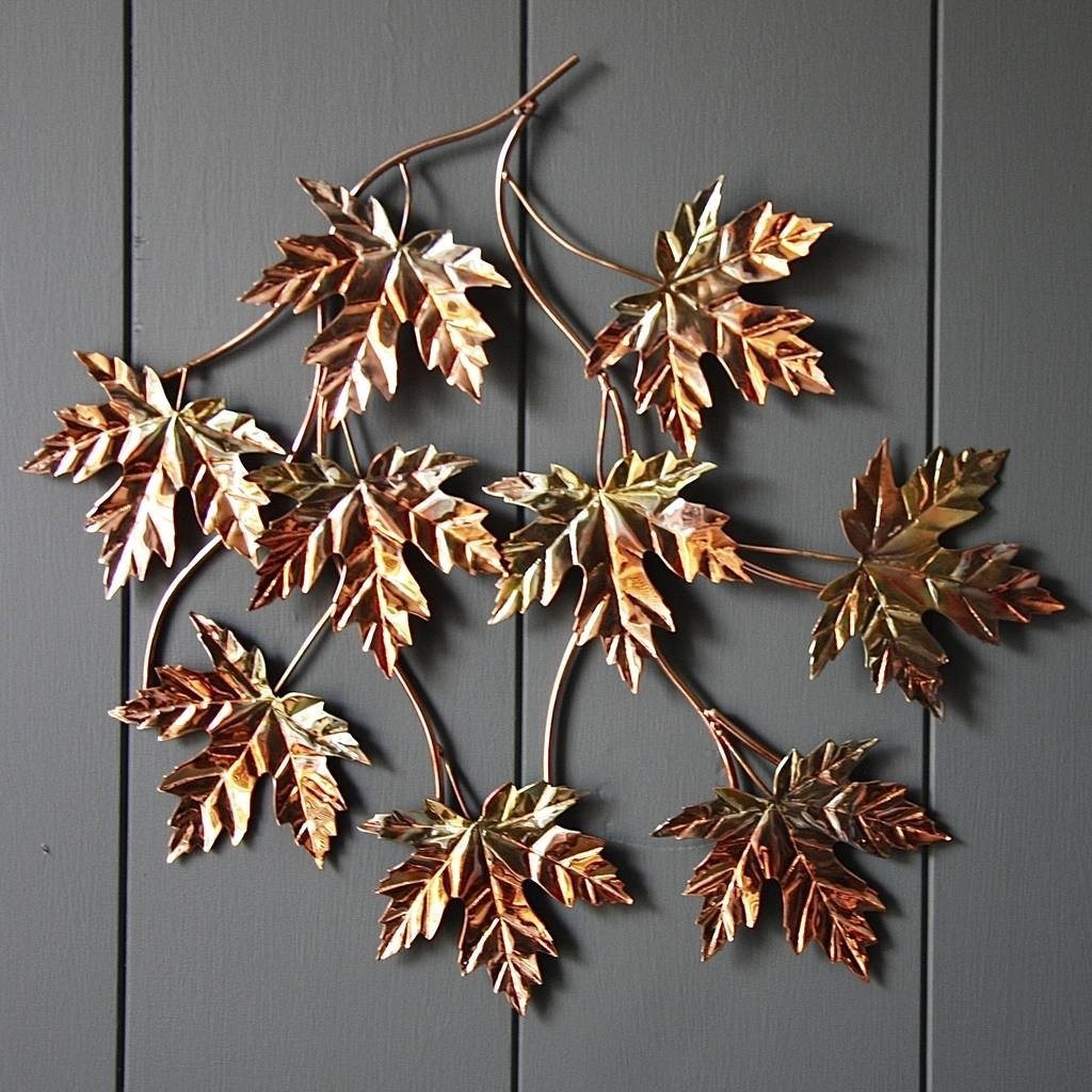 Copper Leaf Wall Artlondon Garden Trading | Notonthehighstreet With Most Current Copper Wall Art (View 3 of 15)