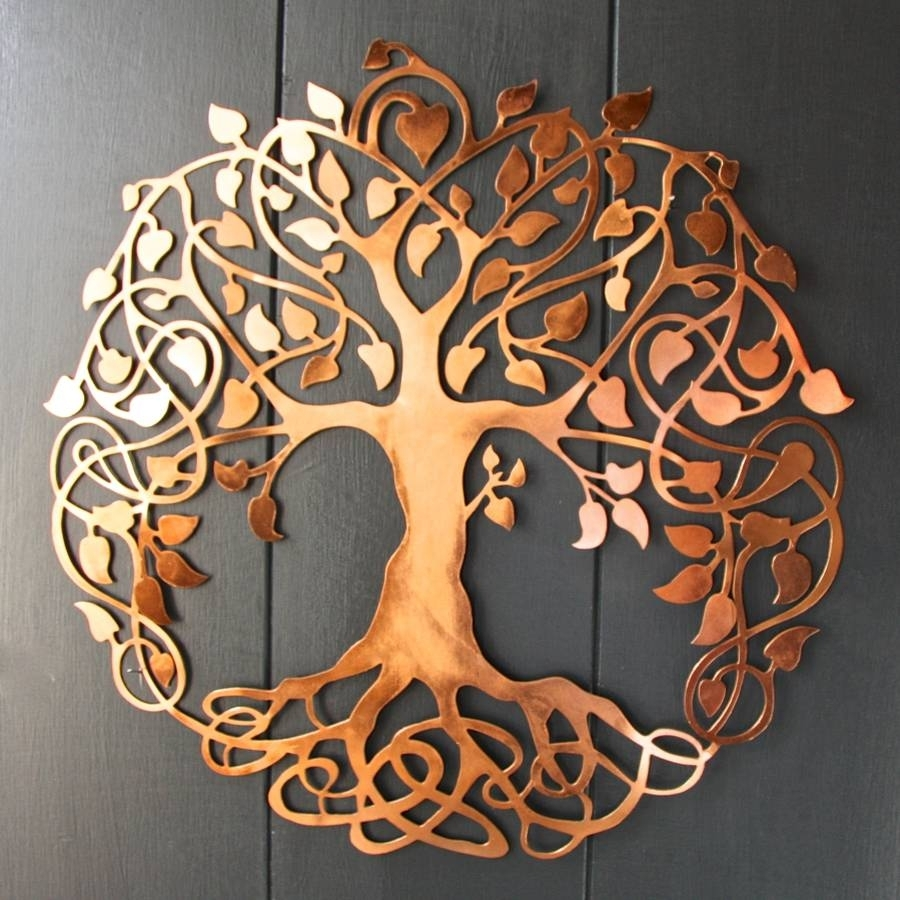 Copper Tree Of Life Wall Artlondon Garden Trading For Newest Copper Wall Art (Gallery 4 of 15)