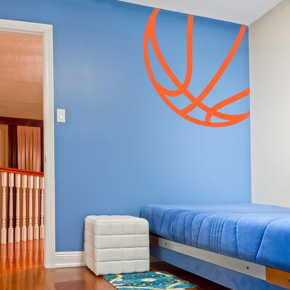 Corner Basketball Wall Art Decal | Kid's Room | Pinterest Intended For Most Recent Basketball Wall Art (Gallery 9 of 15)