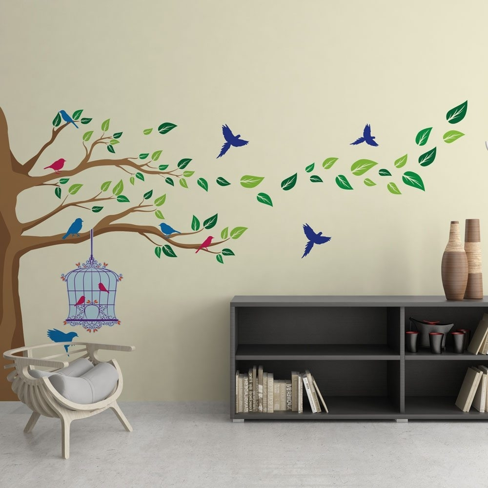 Corner Tree Vinyl Wall Art | Vinyl Revolution With 2017 Corner Wall Art (View 7 of 20)