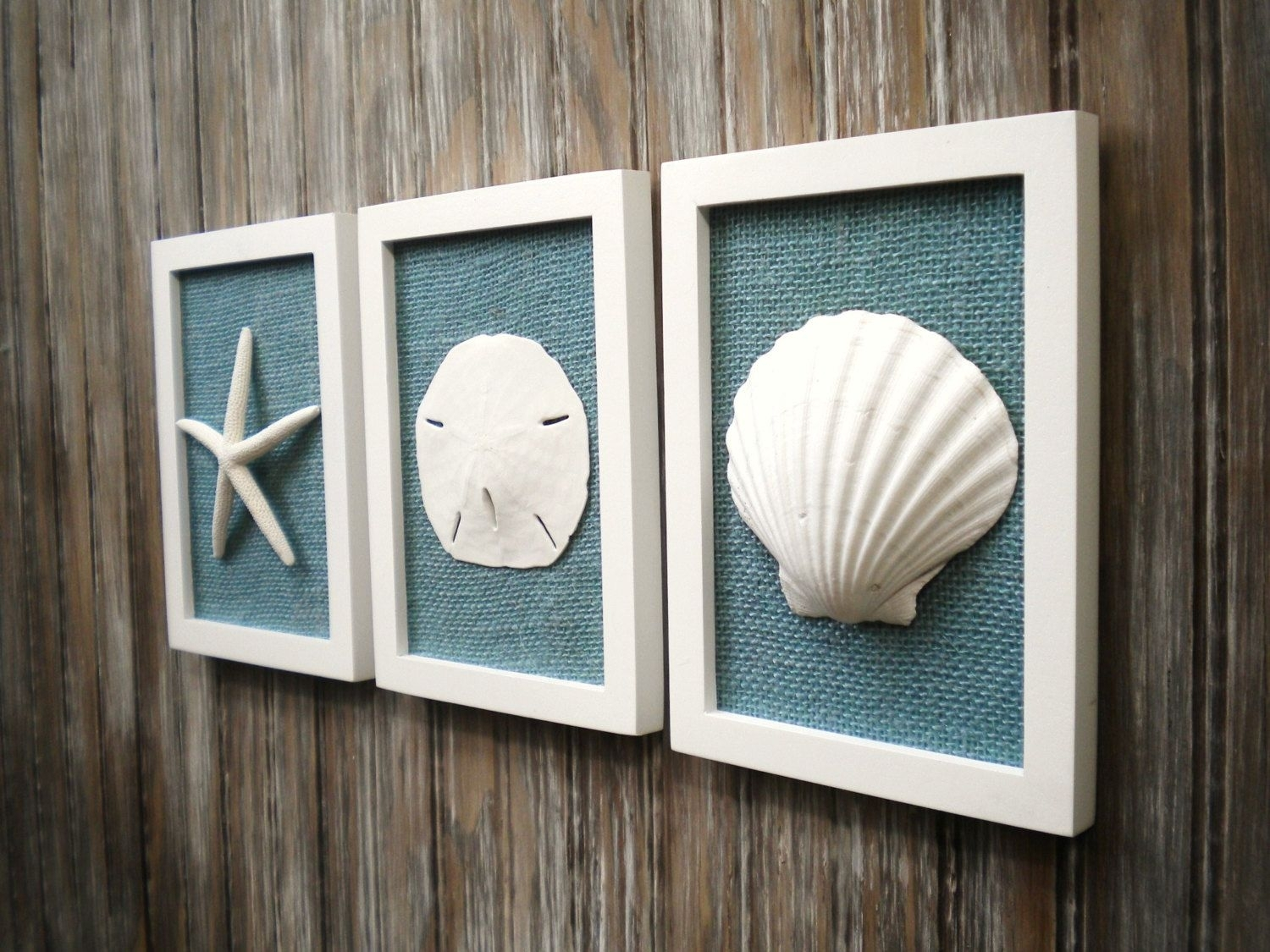 Cottage Chic Set Of Beach Decor, Wall Art, Nautical Decor, Coastal Inside Most Popular Nautical Wall Art (View 2 of 15)