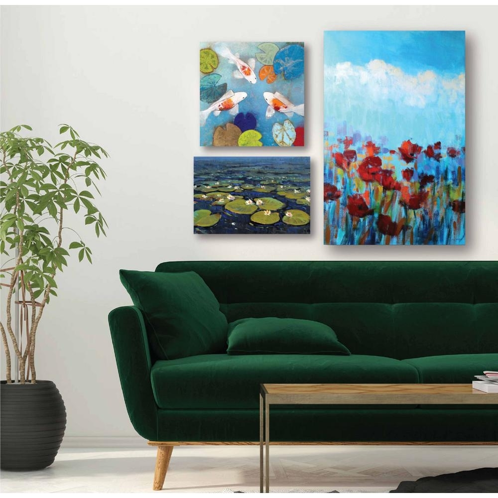 "Courtside Market ""water Lilies Gallery Wall Collection"" Printed Wall Inside Latest Multi Piece Wall Art (View 7 of 20)"