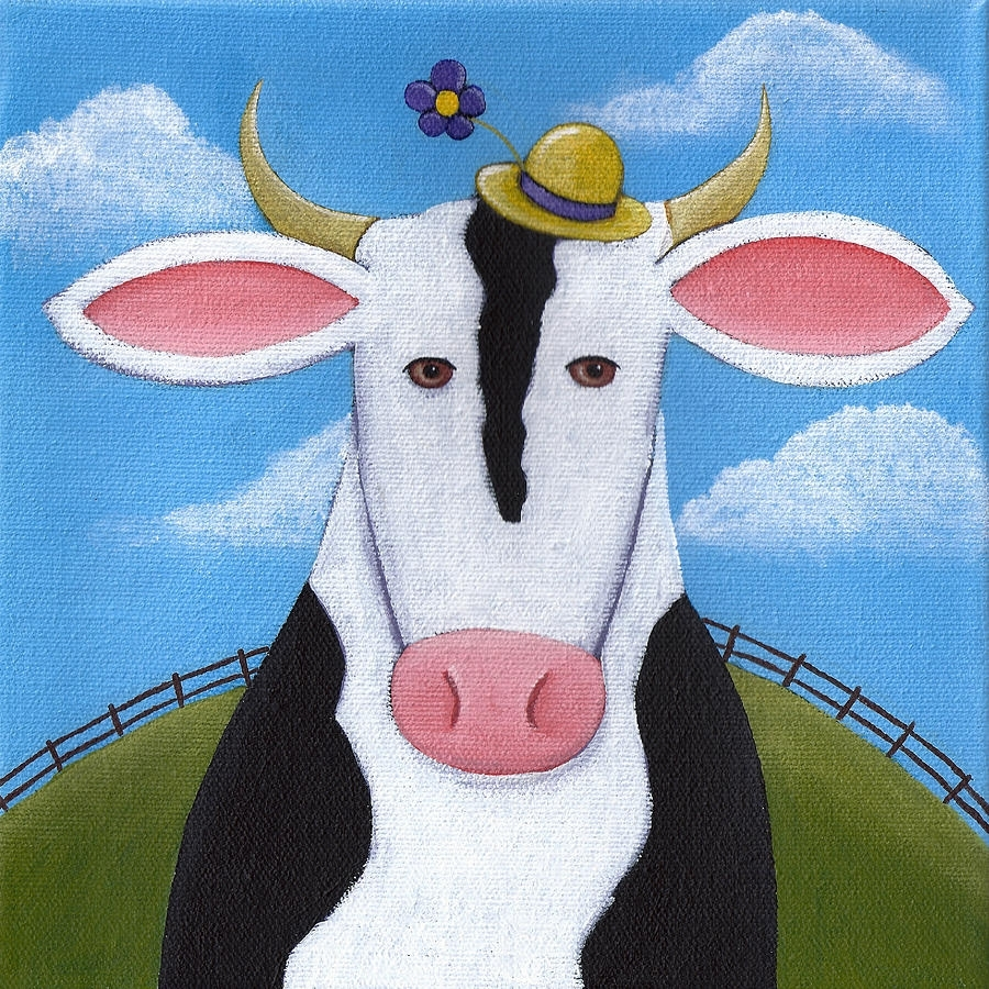 Cow Nursery Wall Art Paintingchristy Beckwith Pertaining To Current Cow Canvas Wall Art (View 10 of 20)