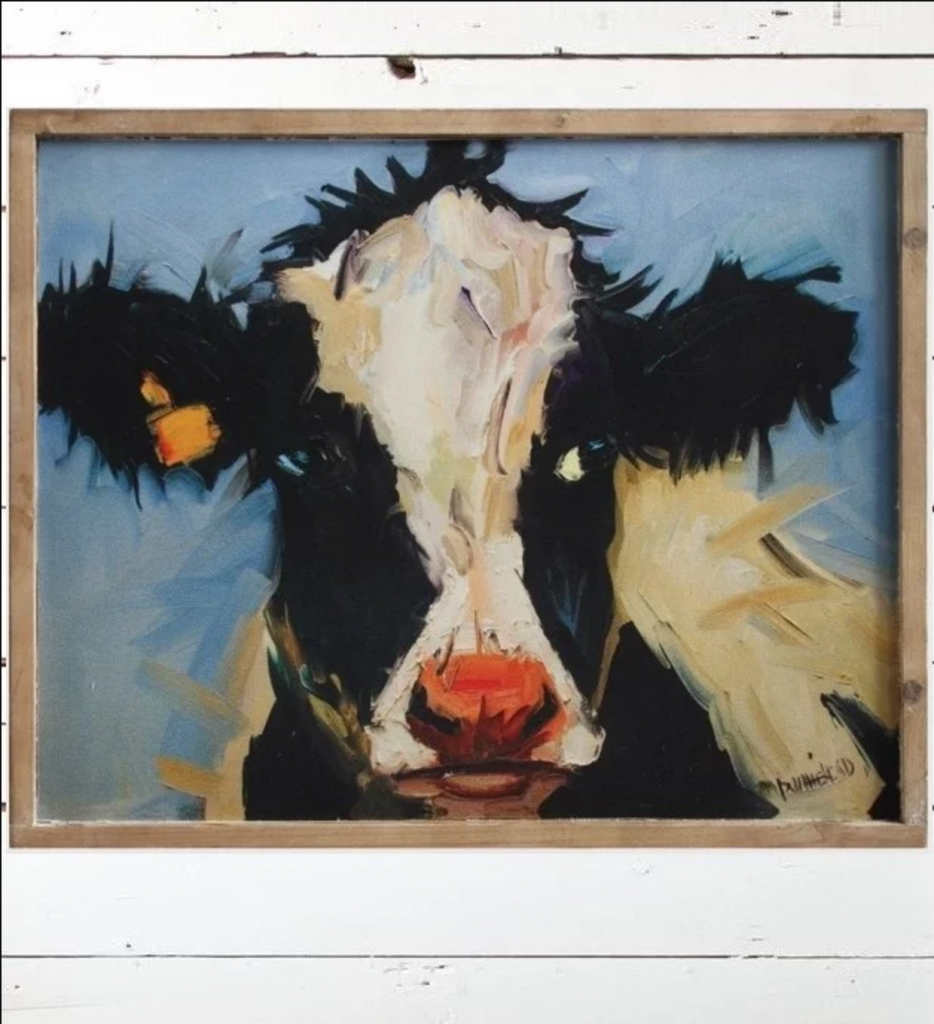 Cow On Canvas! Beautiful Framed Wall Art – Your Modern Farmhouse Regarding Current Cow Canvas Wall Art (View 11 of 20)