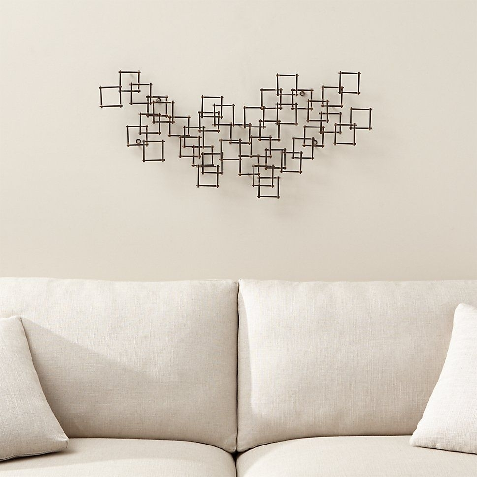Crate & Barrel Squares Nail Metal Wall Art | Square Nails, Metal Intended For Most Popular Crate And Barrel Wall Art (Gallery 7 of 20)