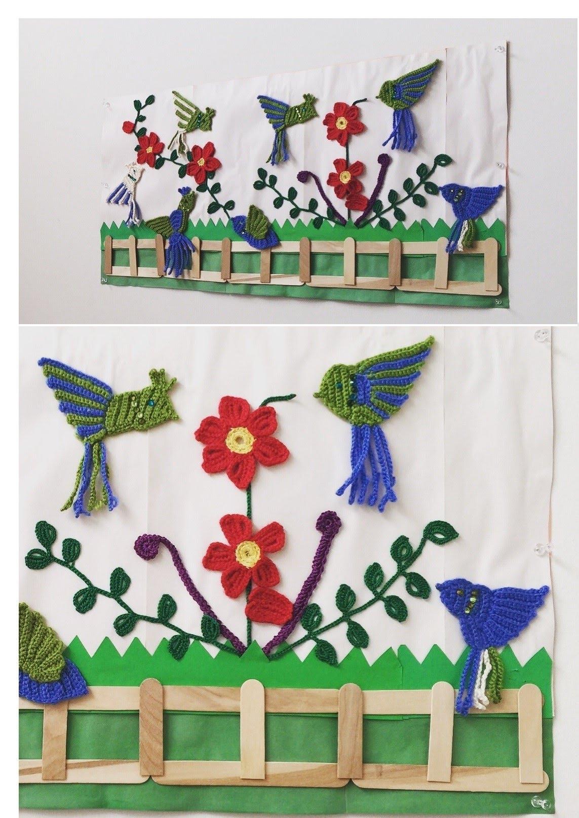 Crochet Appliques – Crochet Wall Decor – Youtube Pertaining To Latest Crochet Wall Art (View 8 of 20)