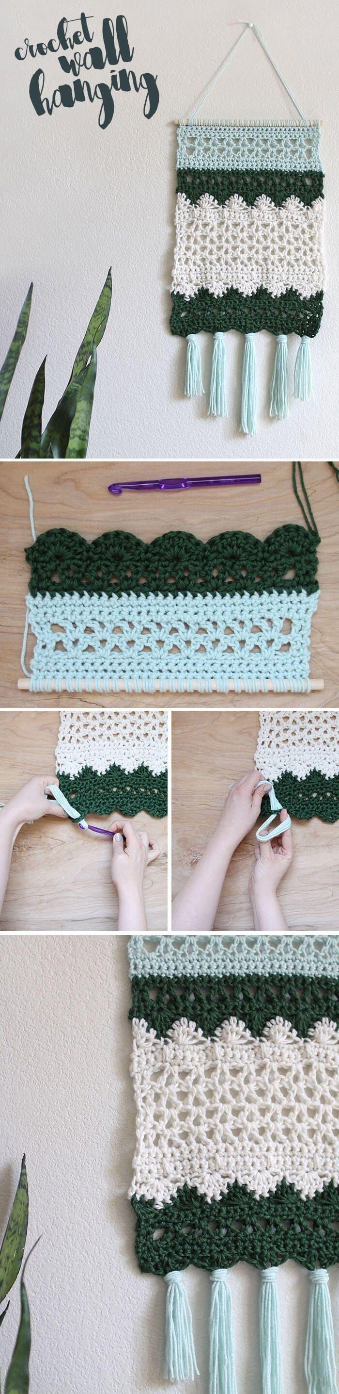 Crochet Wall Hanging Pattern | Crochet Wall Hangings, Wall Hangings Pertaining To Latest Crochet Wall Art (View 7 of 20)