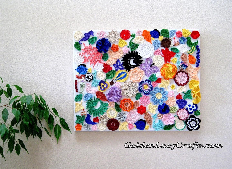 Crochet Wall Hanging, Wall Decoration, Wall Art, Craft Idea Regarding Best And Newest Crochet Wall Art (View 1 of 20)