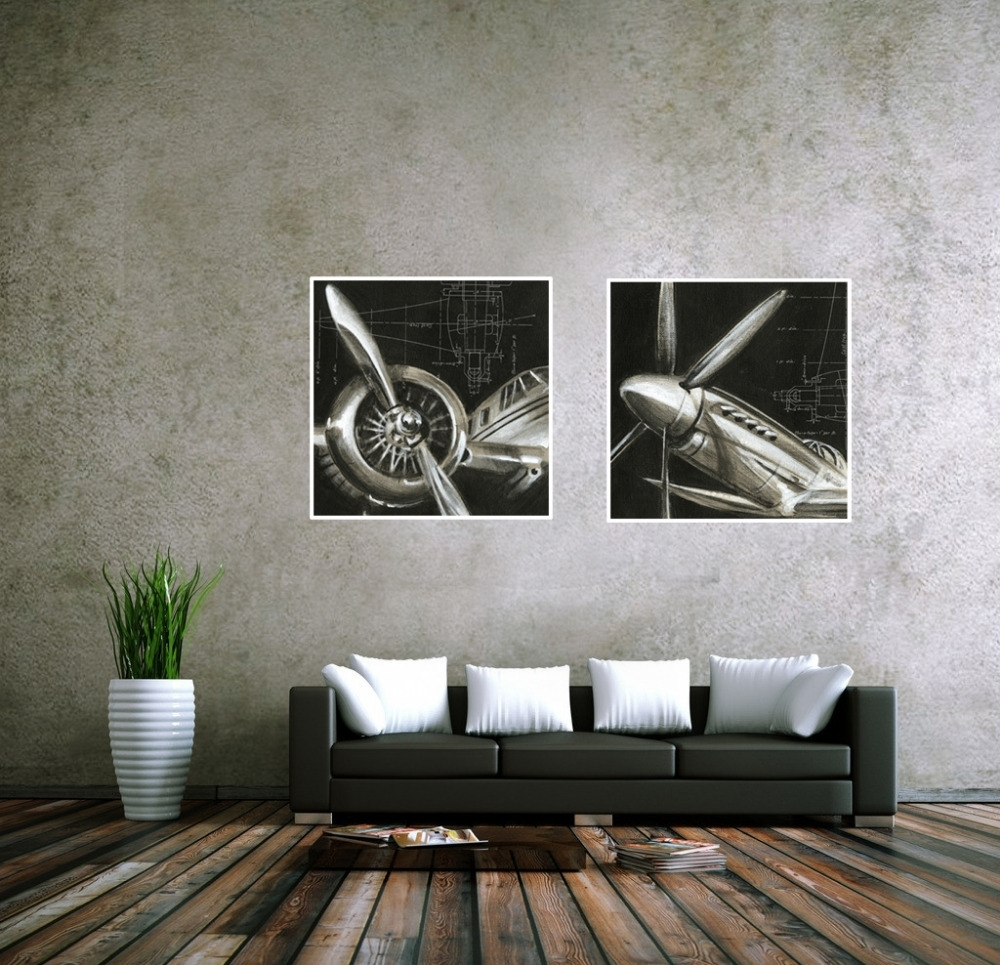 Cuadros Decoracion Vintage Airplane Paintings Cheap Abstract Picture Regarding Most Recently Released Airplane Wall Art (View 13 of 20)