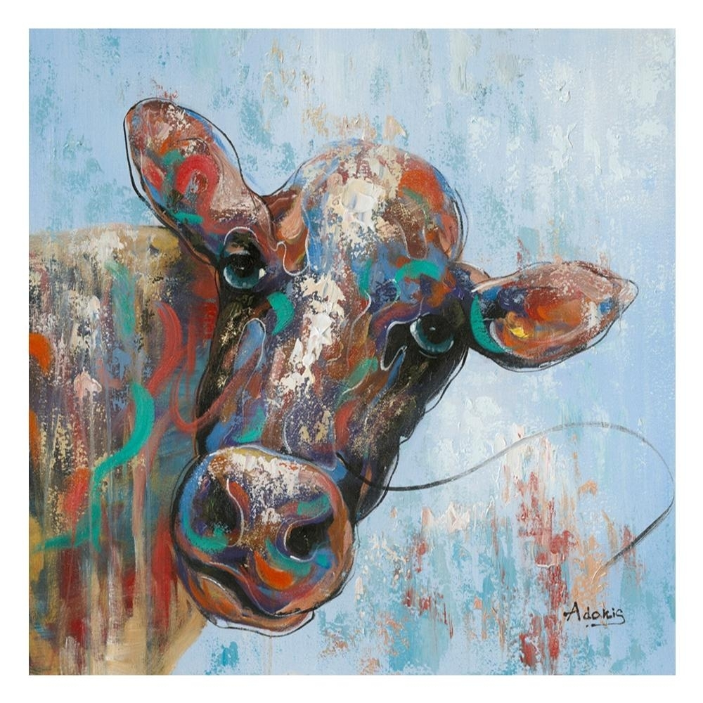 Curious Cow Wall Decor – Boulevard Urban Living Throughout Most Popular Cow Canvas Wall Art (View 13 of 20)