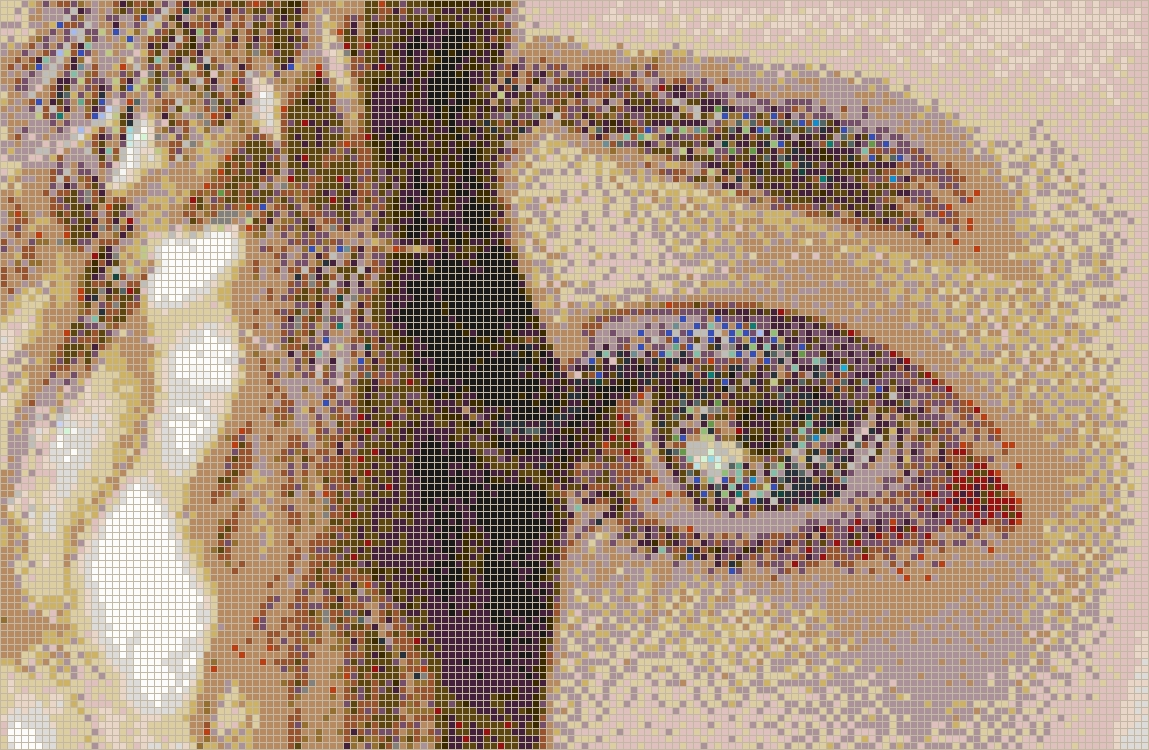 Curly Eye (Alice) – Framed Mosaic Wall Art With Regard To Most Popular Mosaic Wall Art (View 4 of 15)