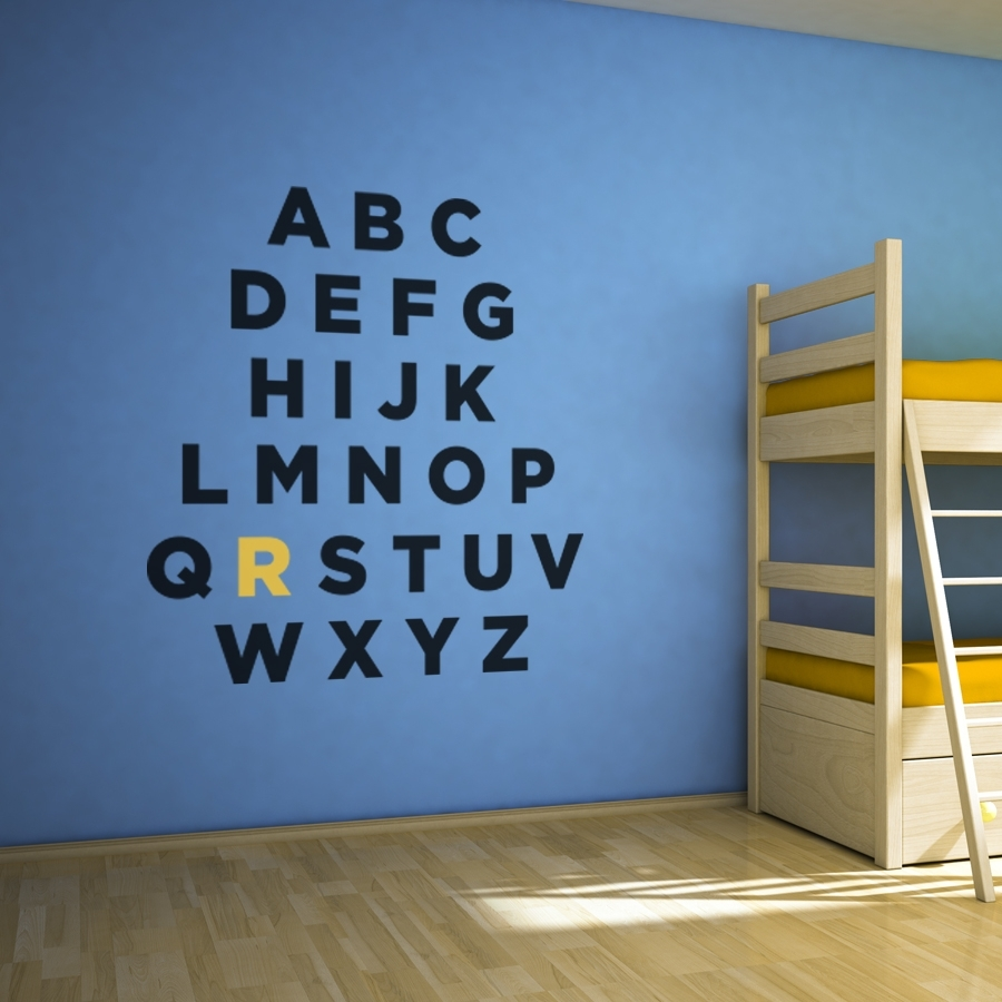 Custom Alphabet Wall Art Decal Within Most Up To Date Custom Wall Art (Gallery 16 of 20)