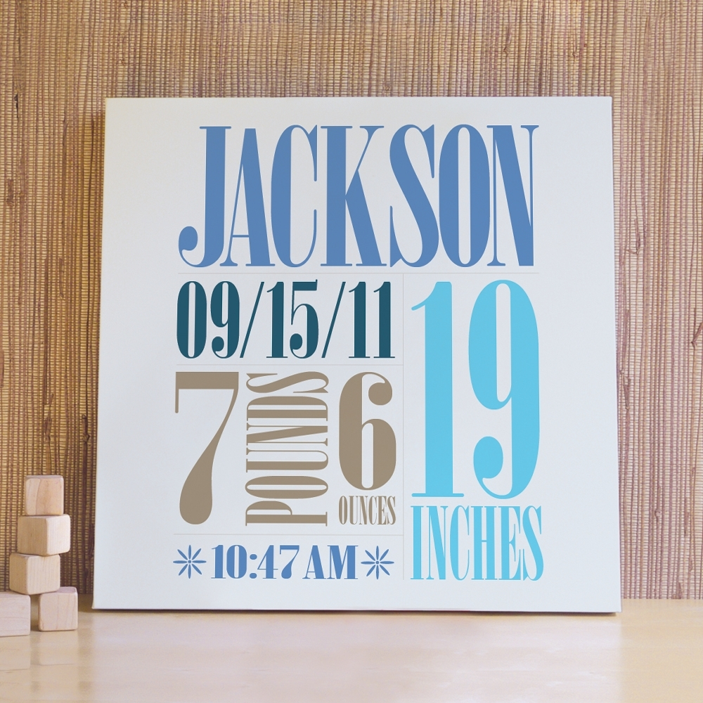 Custom Birth Wall Art – The Perfect Way To Customize The Baby's Room With Regard To Newest Personalized Wall Art (View 2 of 15)