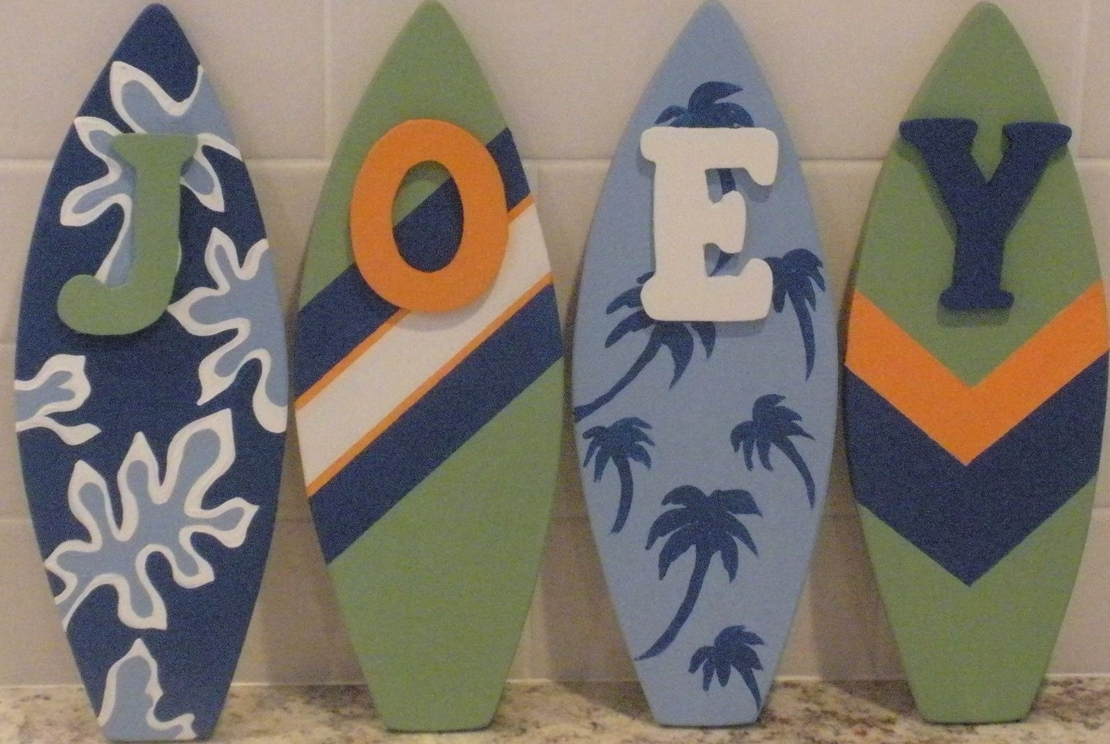 Custom Decorative Surfboard Wall Signs And Decor For Best And Newest Surfboard Wall Art (View 4 of 20)