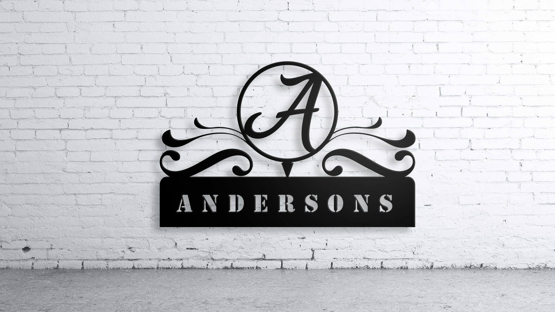 Custom Family Name, Wall Art,custom Sign, Family Name, Aluminum Throughout Recent Family Name Wall Art (Gallery 8 of 20)