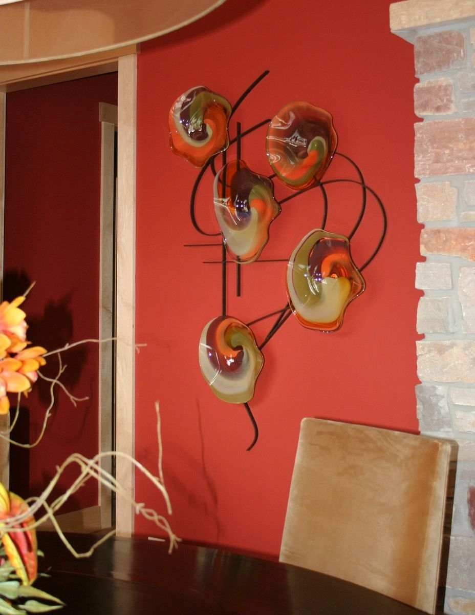 Custom Made Blown Glass And Metal Wall Artbonnie M. Hinz With 2018 Blown Glass Wall Art (Gallery 7 of 20)