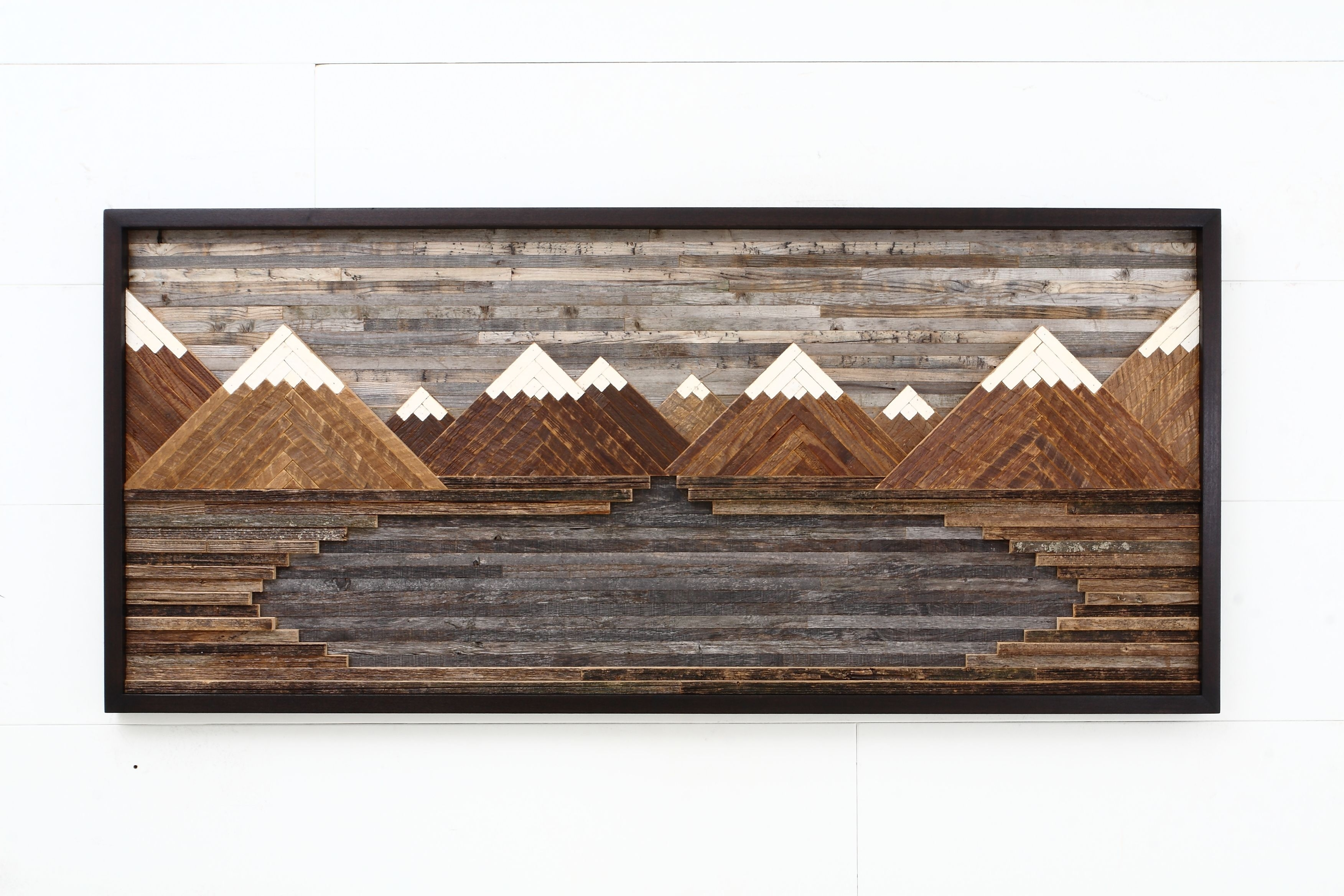 Custom Made Wood Wall Art, Mountain Landscape, 48Carpentercraig Inside Most Popular Personalized Wood Wall Art (View 3 of 20)