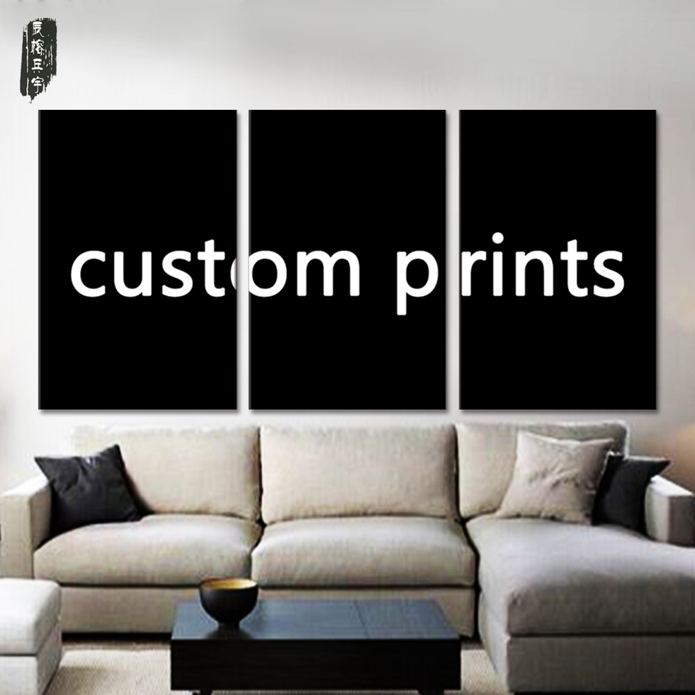 Custom Print Framed Canvas Painting Wall Pictures For Living Room 3 In Most Recent Custom Wall Art (View 5 of 20)
