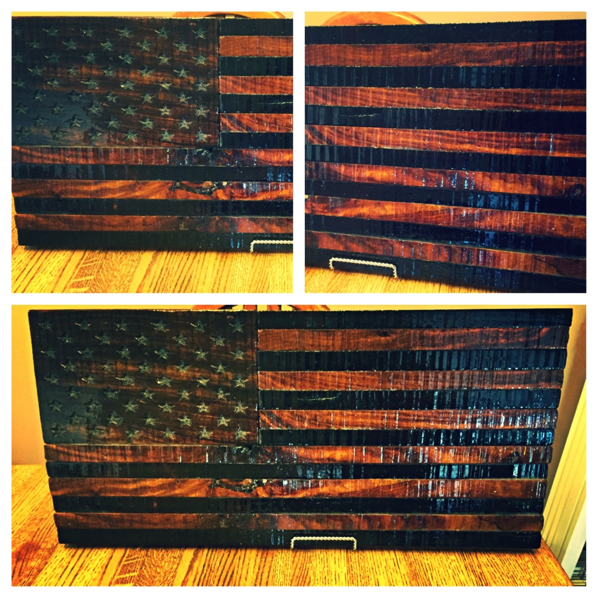 Custom Rustic Wooden American Flagtorched Metal Works Regarding Most Up To Date Rustic American Flag Wall Art (View 7 of 20)