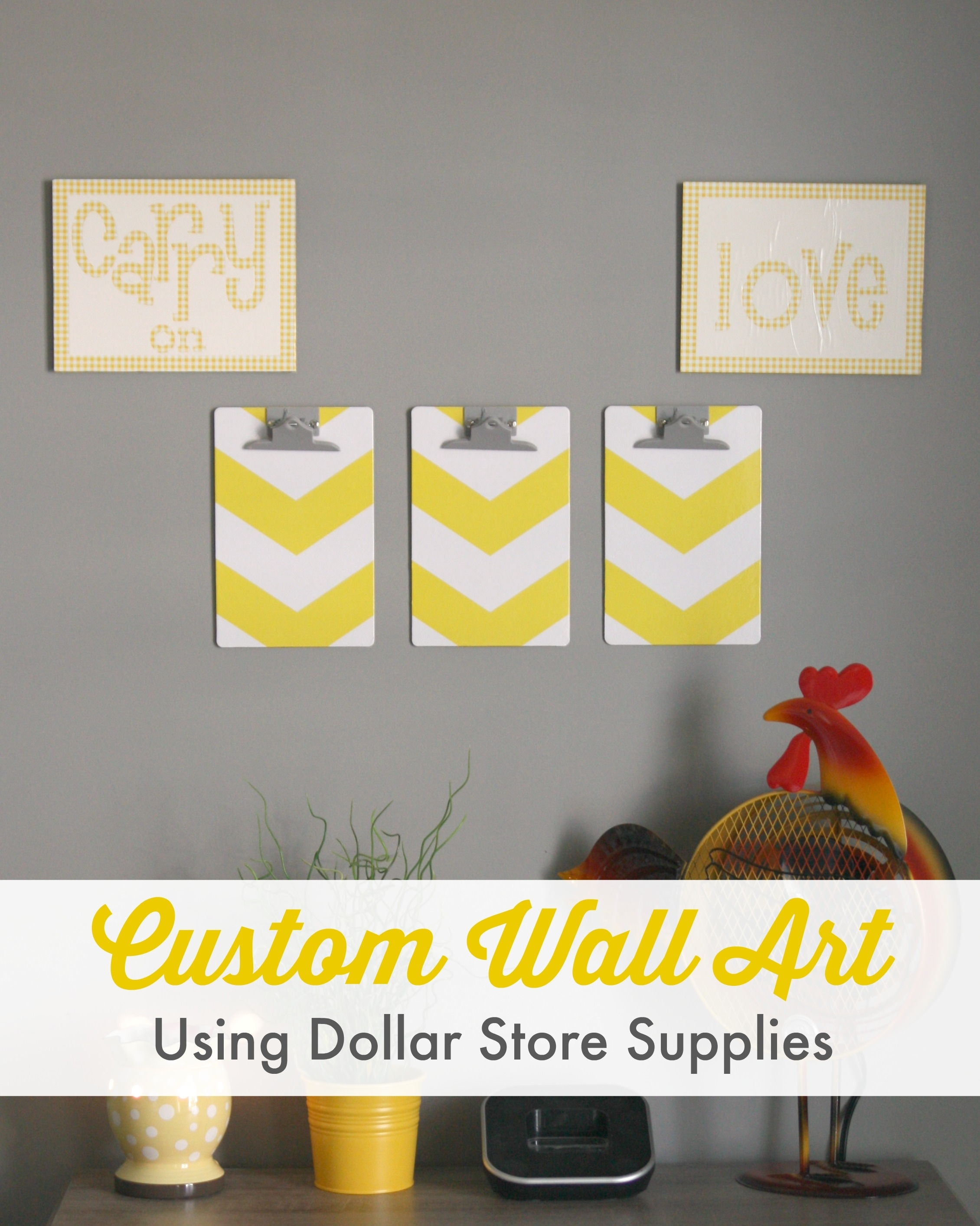 Custom Wall Art {using Dollar Store Supplies!} – Within Most Popular Custom Wall Art (View 15 of 20)