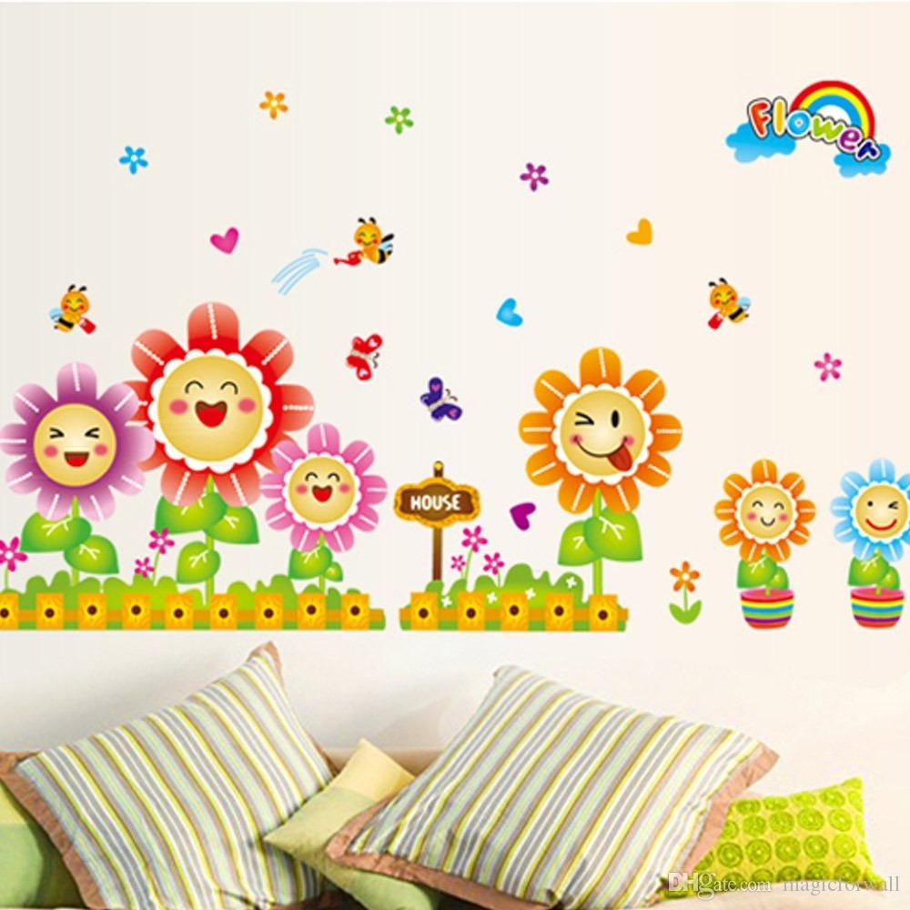 Cute Spring Wall Decor Stickers For Kids Room & Nursery Decoration Inside Most Recently Released Kids Wall Art (View 1 of 15)
