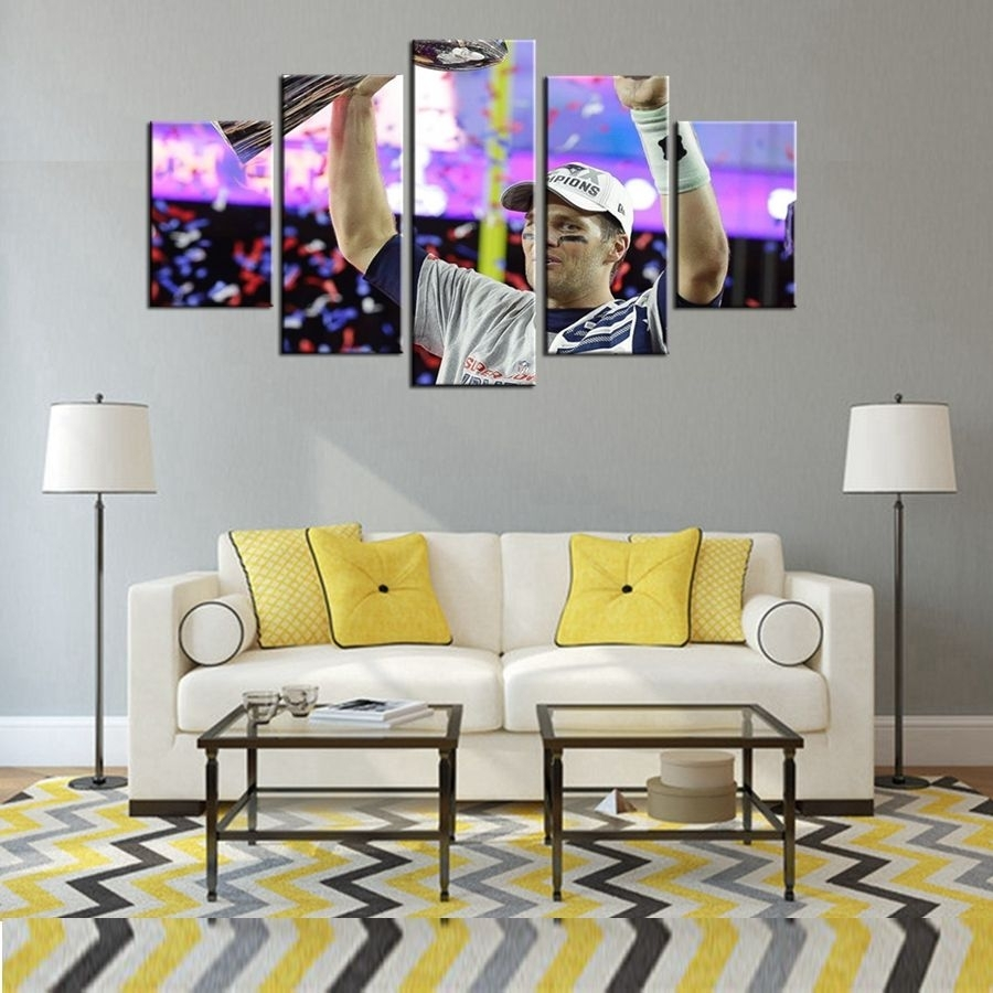 Dallas Cowboys Baseball Wall Art Oil Painting Canvas For Living Room Within Most Current Baseball Wall Art (View 12 of 20)
