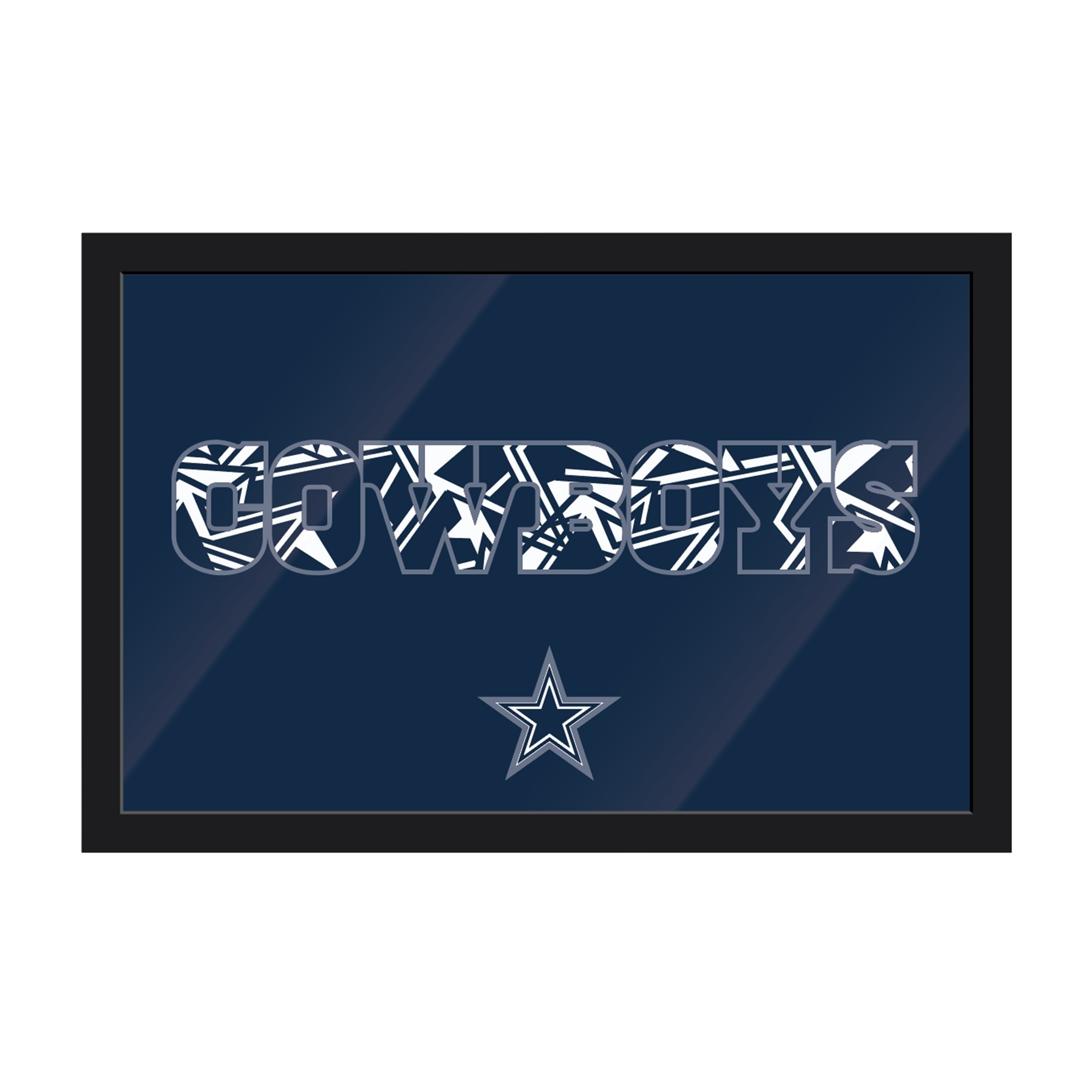 Dallas Cowboys Framed Modern Wall Art – Wall Art – Wall Decor – Nfl Within Most Popular Nfl Wall Art (View 7 of 15)