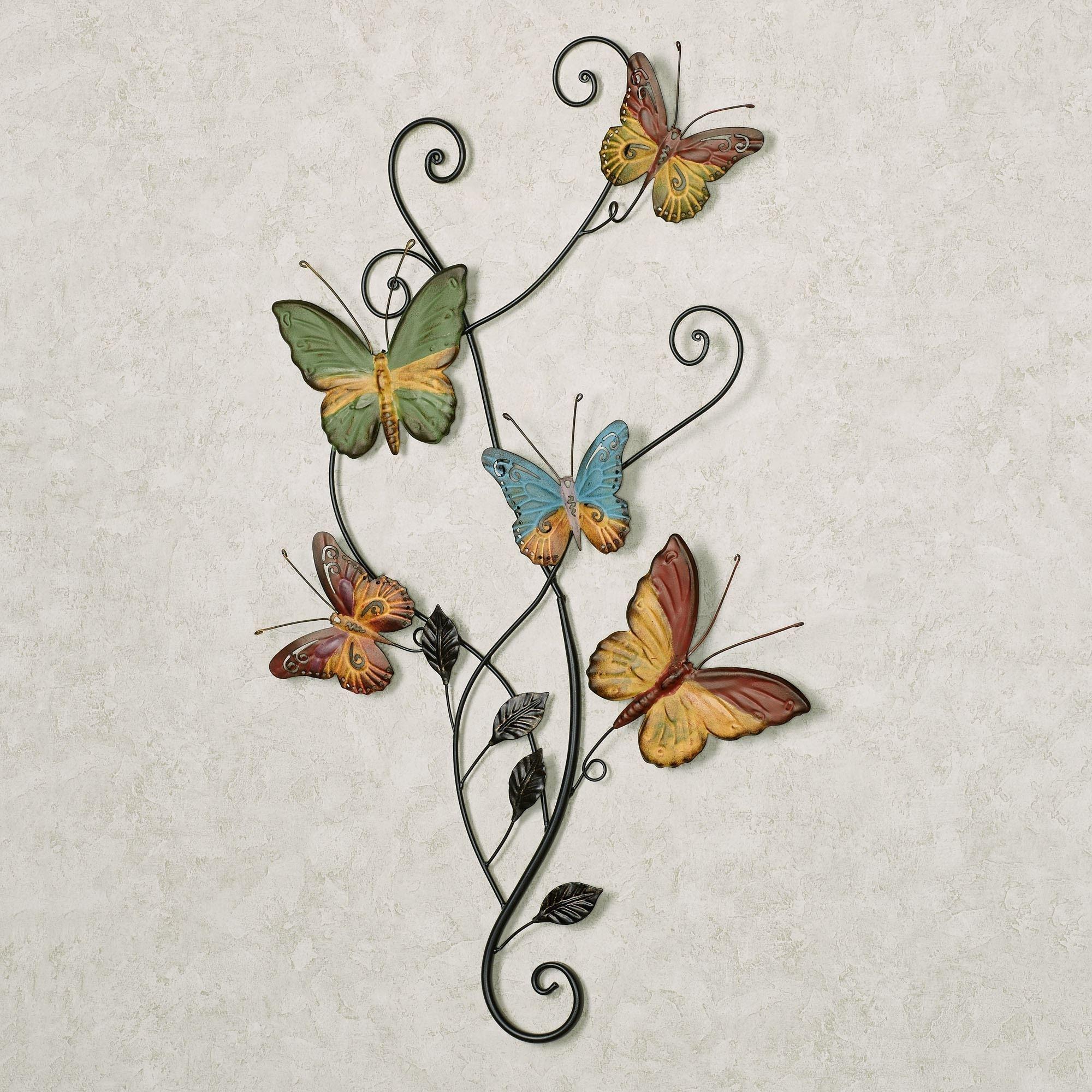Dancing Butterflies Metal Wall Art For 2017 Butterfly Wall Art (View 5 of 15)