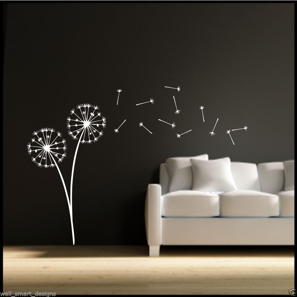 Dandelion Clock Seeds Wall Decal Sticker Transfer Stencil Mural Art With Most Up To Date Dandelion Wall Art (Gallery 10 of 20)