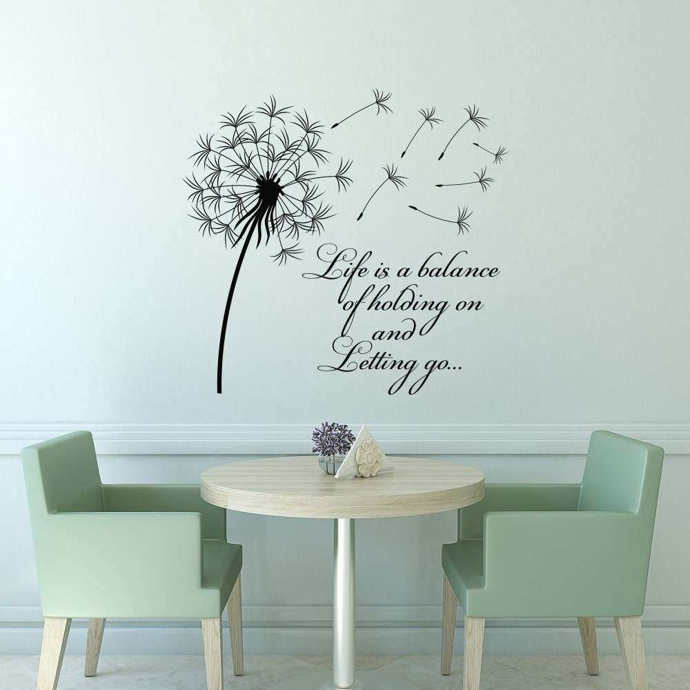 Dandelion Wall Art Awesome Dandelion Wall Decal Quote Life Is A With Most Recently Released Dandelion Wall Art (View 3 of 20)