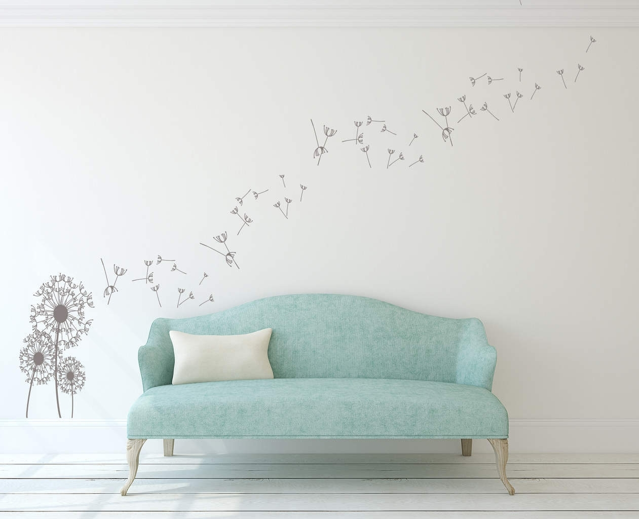 Dandelion Wall Art Decal | Dandelion Wall Decal Sticker Intended For Latest Dandelion Wall Art (View 9 of 20)
