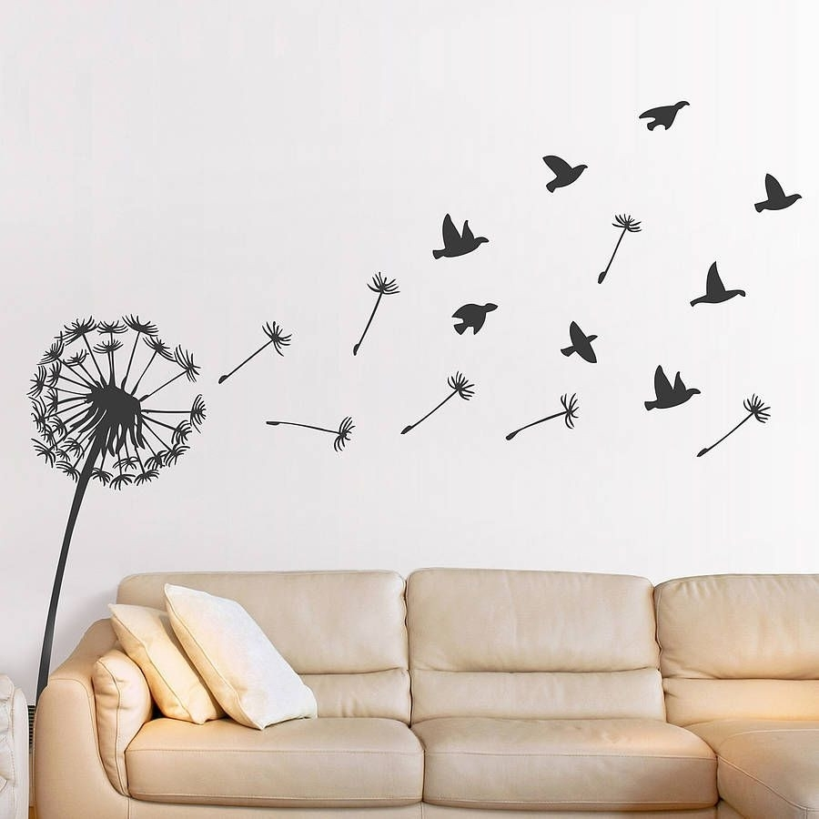 Dandelion Wall Sticker Inspiration Of Dandelion Wall Stickers Of pertaining to Recent Dandelion Wall Art
