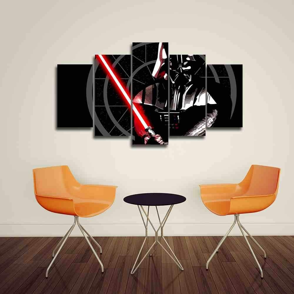 Darth Vader | Star Wars Canvas Panel Wall Art | Panelwallart Throughout 2017 Star Wars Wall Art (View 4 of 15)