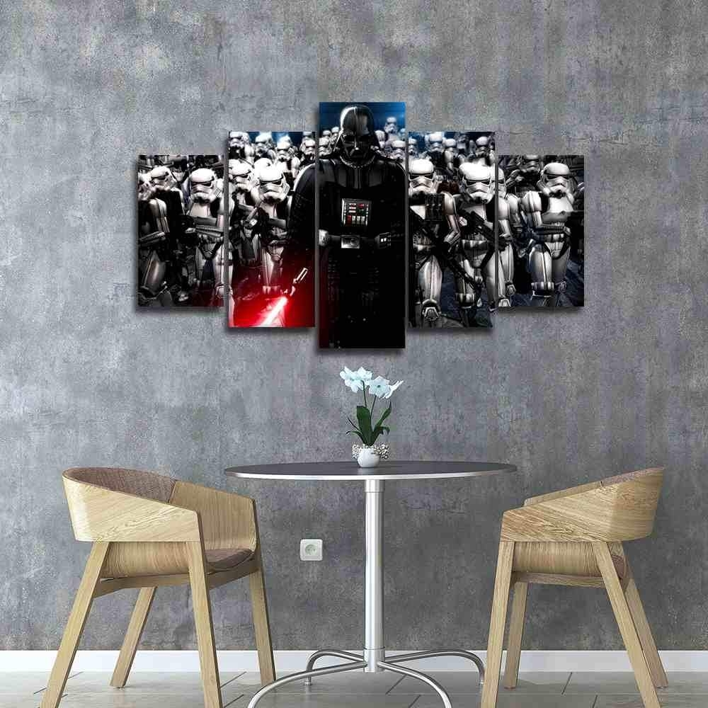 Darth Vader | Star Wars Canvas Panel Wall Art | Panelwallart Throughout Best And Newest Darth Vader Wall Art (View 8 of 20)