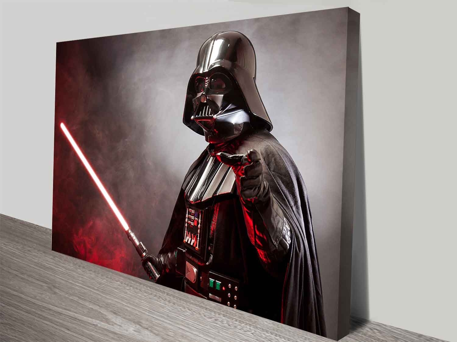 Darth Vader's Laser Sword Wall Art Print On Canvas Australia In Most Popular Darth Vader Wall Art (View 9 of 20)